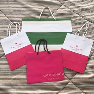 Set of 4 Authentic Kate Spade Shopping Bags